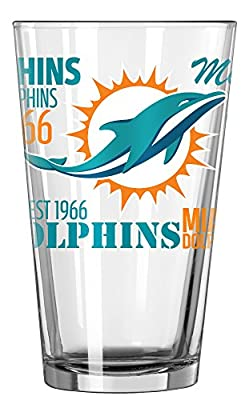 Miami Dolphins Official NFL 16 fl. oz. Spirit Pint Glass