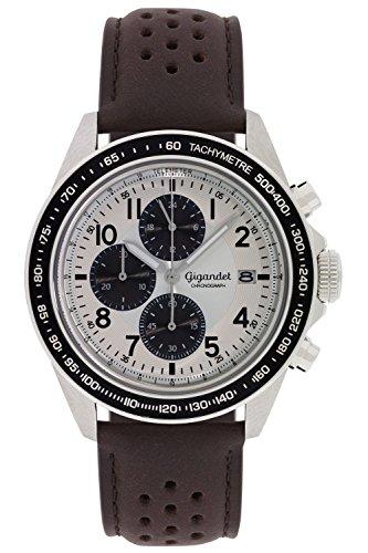 Gigandet Racetrack Orologio da Uomo Quarzo Cronografo Analogico Data Marrone Nero G24-007