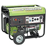 All Power America APG3560 6,000 Watt 13 HP OHV Propane Powered Generator with Electric Start& Wheel Kit
