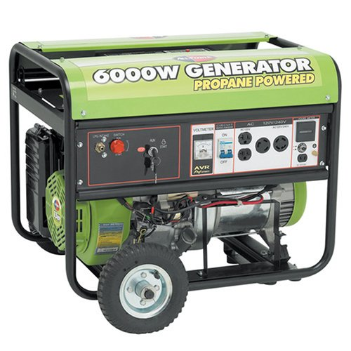 All Power America APG3560 6,000 Watt 13 HP OHV Propane Powered Generator with Electric Start & Wheel Kit