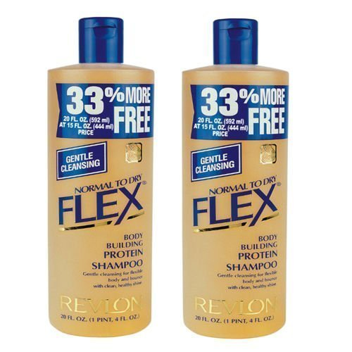 2 x Revlon Flex Body Building Shampoo Normal To Dry, 592ml – Expedited International Delivery by – USPS / FedEX ""