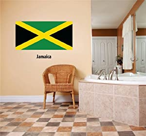 Decals stickers jamaica flag country pride symbol sign for Home decor jamaica