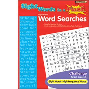 Sight Words in a Flash Word Searches Grade 4+ - 1