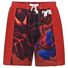 Boys' Spiderman Swim Short - Red