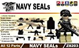 Navy Seals Gear Pack in Black (12 Pieces) - LEGO Compatible Minifigure Pieces