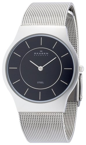 SKAGEN (スカーゲン) 腕時計 basic steel mens 233LSSB ケース幅: 34mm Ultra Slim メンズ [正規輸入品]