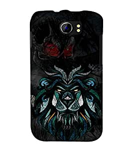 Graphical Tiger Champak 3D Hard Polycarbonate Designer Back Case Cover for Micromax Canvas 2 A110 :: Micromax Canvas 2 Plus A110Q
