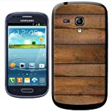 Fancy A Snuggle Cabin Wall Wood Lookalike Clip-on Hard Back Cover for Samsung Galaxy S3 Mini i8190