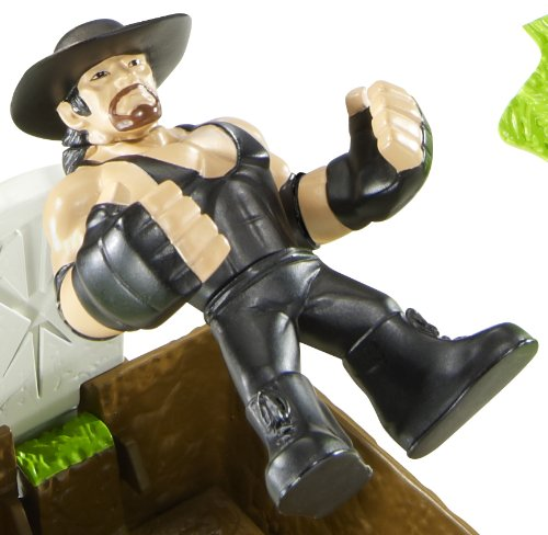 Buy Low Price Mattel WWE Rumblers Undertaker Figure with Casket Match Playset (B004CRTZGC)