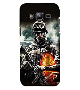 ColourCraft The Soldier Design Back Case Cover for SAMSUNG GALAXY J2 J200G