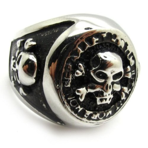 Psc.3 High Quality Men's Jewelry Silver Biker Hot Bike Demon Party Ring Stainless Steel