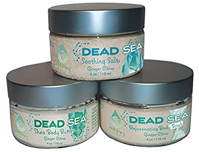reNeu Dead Sea Minerals Revitalizing Spa Kit. Luxury Dead Sea Salts, Body Scrub and Shea Butter Spa Bath Gift Set.