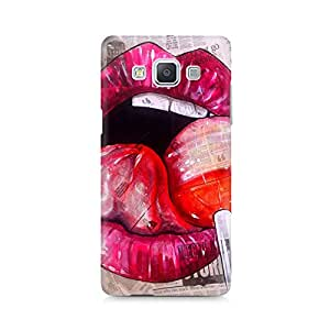 Mobicture Lips Premium Designer Mobile Back Case Cover For Samsung A5