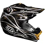 Troy Lee Designs Beast Se 3 Off-road/dirt Bike Motorcycle Helmet - Black/silver / Medium