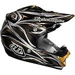 Troy Lee Designs Beast Se 3 Off-road/dirt Bike Motorcycle Helmet - Black/silver / Medium
