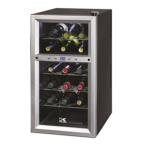 18 Bottle Wine Cooler Dual Zone