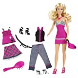 Barbie Fab Life Doll And Fashion - Pink Skirt And Accessories Doll