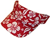 Magic Apparel Adjustable Floral Print Visor (One Size, Red)