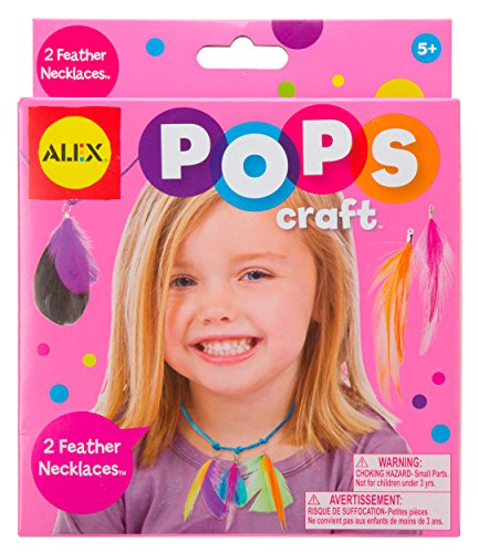 ALEX Toys POPS Craft 2 Feather Necklaces - 1