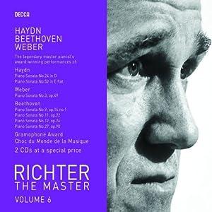 Richter the Master, Vol. 6: Haydn/Beethoven/Weber - Piano Sonatas