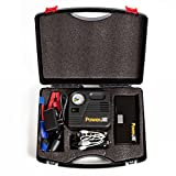 Jump Starter for Cars and Vehicles - with Air Compressor - Portable and Multi-Function - with Portable Power Bank and LED Flashlight 400A Peak Current 12000mAh by PowerJill