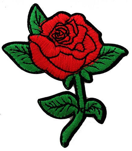 Belle Rose Bella Rose Patch '6.8 x 7.8 cm' - Toppa Patches Toppa Toppa Termoadesiva Toppa Termoadesiva Per Stoffa Ricamato Toppa Embroidered Patch Applicazioni Applique Catch The Patch