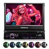 XOMAX-XM-DTSB928-Autoradio-Moniceiver-Bluetooth-Freisprecheinrichtung-Musikwiedergabe-18cm-7-HD-Touchscreen-Display-Audio-Video-MP3-inkl-ID3-TAG-WMA-MPEG4-AVI-DIVX-etc-Beleuchtungsfarbe-frei-einstellb