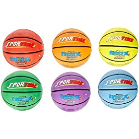 Sportime SportimeMax Basketballs - Junior Size, 27 Inch - Set of 6 Colors by Sportime