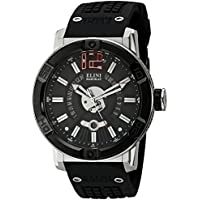 Elini Barokas Spirit Black Dial Mens Watch