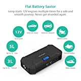 Car Jump Starter RAVPower 550A Peak Current Portable Charger Car Battery (14000mAh, 4.2A output, LCD Display, Safety Protection, Built-In Flashlight) Perfect for Diesel or Gas Engines up to 3L or 5L