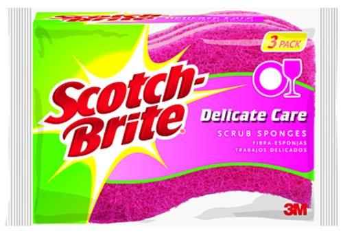 Scotch-Brite Delicate Care Scrub Sponge DD-3, 3-Count (Pack of 8)