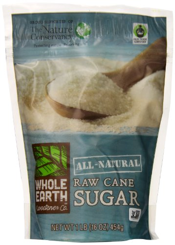 Whole Earth Sweetener Company All-Natural Raw Cane Sugar, 1 Pound (Pack Of 12)