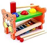 Arshiner Xylophone 8-Notes musical en bois jeux éducatif 6 pieces Inclus