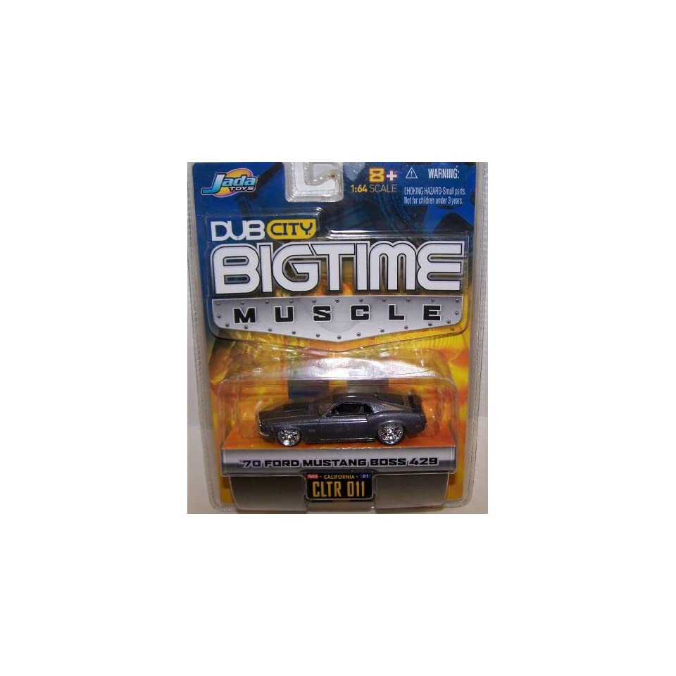 Jada Toys 1/64 Scale Diecast Big Time Muscle 1970 Ford Mustang Boss 428 in Color Dark Gray No#011