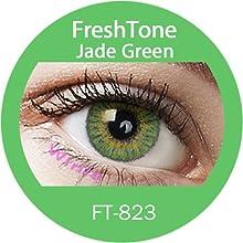 Lente de contacto de color Jade Green 3tons 12meses sin Correction