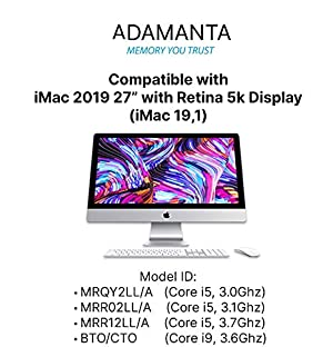 Adamanta 64GB (2x32GB) Memory Upgrade for 2019 Apple iMac 27 w/Retina 5K Display, Late 2018 Apple Mac Mini DDR4 2666Mhz PC4-21300 SODIMM 2Rx8 CL19 1.2v DRAM RAM (Color: 64GB (2 x 32GB), Tamaño: 2019 iMac/2018 Mac Mini)