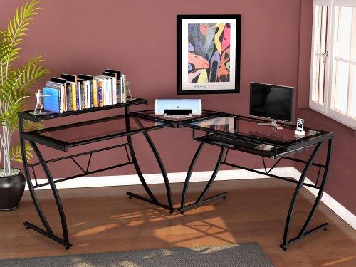 #5 Z-Line Designs Feliz Glass L Desk