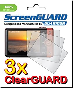 GUARMOR 3 x Sony CyberShot DSC-WX150 Digital Camera Premium Clear LCD Screen Protector, no cutting, Exact fit and satisfaction guaranteed (3 Pieces)
