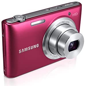 "Samsung ST150F 16.2MP Smart WiFi Digital Camera with 5x Optical Zoom and 3.0"" LCD Screen (Red)"
