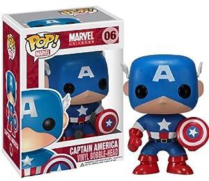 "Captain America: ~3.75"" Funko POP! Marvel Universe Vinyl Bobble-Head Figure"