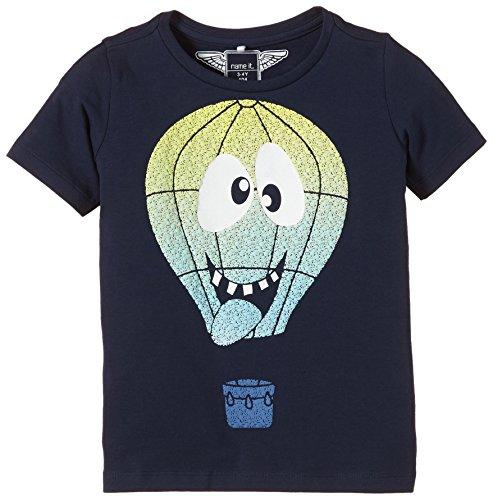NAME IT - Heino Mini Ss Top 215 Ger, T-shirt per bambini e ragazzi, blu (dress blues), 80 (Taglia produttore: 80)