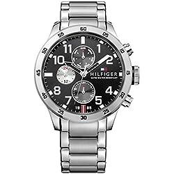 Tommy Hilfiger Herren-Armbanduhr Analog Quarz Edelstahl 1791141