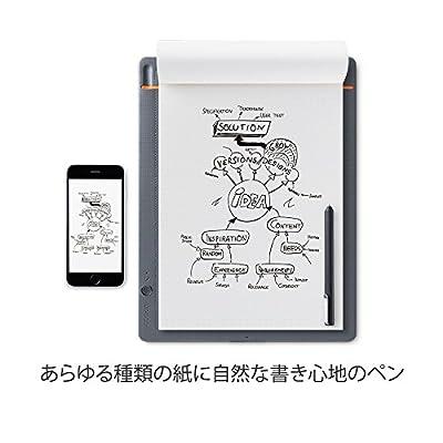 【ワコム】スマートパッド Bamboo Slate large(A4対応)ミディアムグレー ボールペンで好みの紙に書いて、デジタル形式のメモを作成 CDS810S