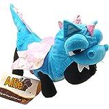 Alfie Couture Designer Pet Apparel - Smokie the Dragon Dinosaur Costume - Color: Blue, Size: S