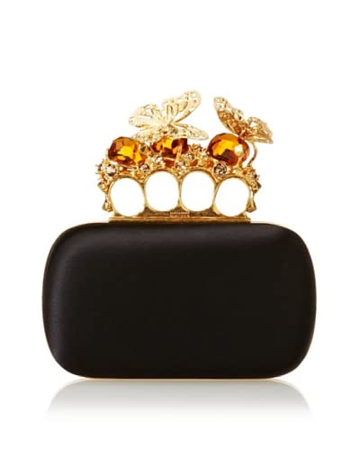 ALEXANDER MCQUEEN Women's Butterfly Clutch, Black