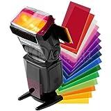 pangshi® 12pc Strobist Flash Color Lighting Gel Pop up flash diffuser soft box Filter