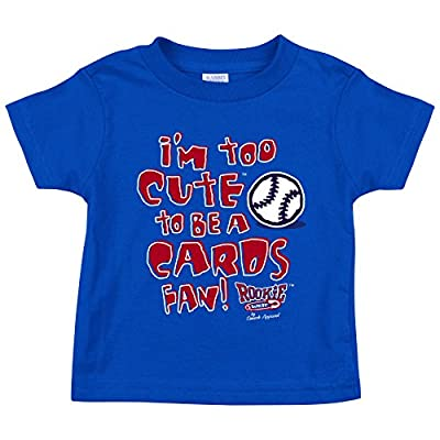 Chicago Cubs Fans. I'm Too Cute.. Blue Onesie (NB-18M) or Toddler Tee (2T-4T)