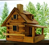 House of Krumbach Log Cabin Bird Feeder