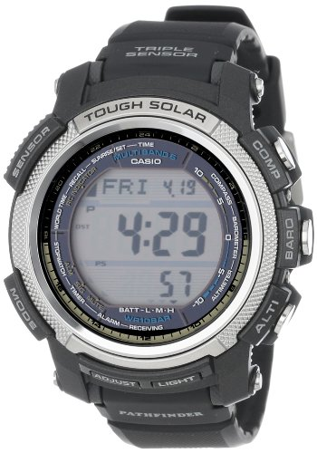 Casio Men's PAW2000-1CR Pathfinder Digital Multi-Function Resin Band Watch