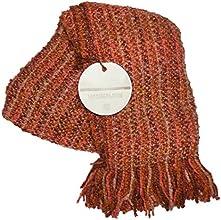 Stria Paprika Acrylic Decorative Throw Blanket